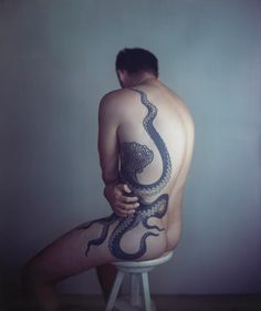 Richard Learoyd's Man with Octopus Tattoo II (2011) by Richard Learoyd. At the National Gallery until January '13. The best image in the exhibition.