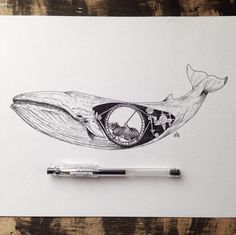 Surreal Illustrations by Alfred Basha #illustration #drawing #surreal