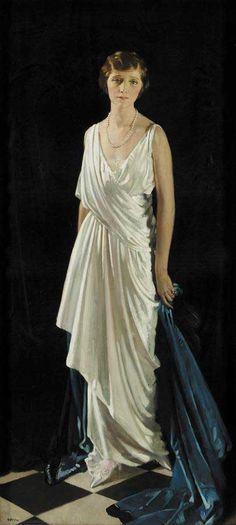 Portrait of Mrs Oscar Lew by Sir William Orpen (Irish 1878-1931)