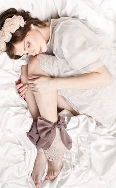 "Tender Lace socks from the Sockbox ""Boudoir"" collection. A bow looks good at any age. Sandro, Boudoir Photography, Portrait Photography, Luxury Nightwear, Luxury Lingerie, Sexy Lingerie, Sleeping Women, Sleeping Beauty, Pose Reference Photo"