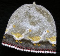 First snow, 2010 Jul 18th hat baby cap.  three colors per row