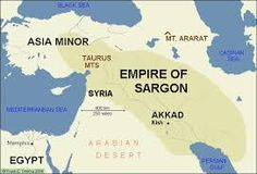 AKKADIAN EMPIRE  FIRST EMPIRE in HISTORY  Widely considered as the first empire of the world, the AKKADIAN Empire was created by King SARGON of AKKAD who invaded all the neighboring areas and pushed his influence and power farther north toward the Taurus Mountains where he conquered parts of Lebanon from the HURRIANS. To the east, SARGON successfully invaded western ELAM, while he also captured MAGAN in Oman.