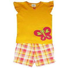 Honey & Clover Kidswear / Children's Apparel | Smiling Butterfly 2-Piece Set by Jumping Beans