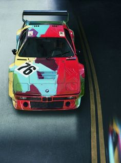 BMW in Color.....M1 Art Car by Andy Warhol