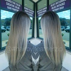 #hairbyheatherzip #balayage #ombre #blonde #brunette #iceyblonde #greyhair #hair #love #longhair #coresalon #coresalonnj #beautycomesfromthecore