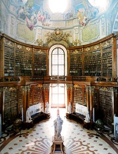 "bookmania: ""Austrian National Library, Vienna, Austria. This structure was built by Joseph Emanuel Fischer von Erlach between 1723 and 1735, according to a design by his father Johann Bernhard Fischer..."