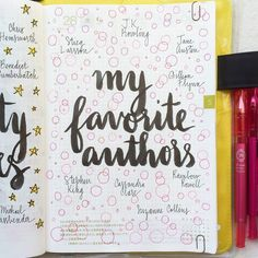 Day 28 of #listersgottalist: my favorite authors I must admit I read little to no non-fiction, I like to read as an escape. My guilty pleasure is YA fiction #journal #artjournal #hobonichi...