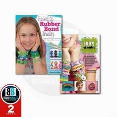 "Very nice books collection of ""Hooked on Rubber Band Jewelry"" and ""Loom Magic"" Must read #books #bookstore #onlinebookstore"