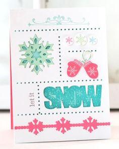 Snow Sampler Card by Betsy Veldman for Papertrey Ink (October 2013)