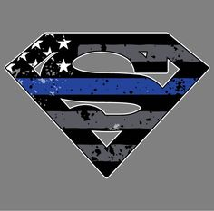 Thin Blue Line- Superman Vehicle Decal- because not all superheros wear a cape. :) 5 10 Lets make sure that law enforcement everywhere know that they are loved and appreciated! Superman Tattoos, Superman Logo, Thin Blue Line Flag, Thin Blue Lines, Law Enforcement Tattoos, Law Enforcement Quotes, Police Flag, Police Officer, Police Tattoo