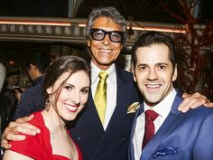 Tiler Peck, Tommy Tune and Robbie Fairchild at the Tony Honors cocktail reception