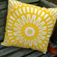 Small Talk Studio Cool Mod Sunny Pillow $30