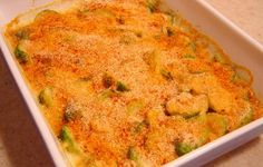 Brussels Sprouts Au Gratin Added some bacon and 1/4 tsp. of garlic powder. yummm