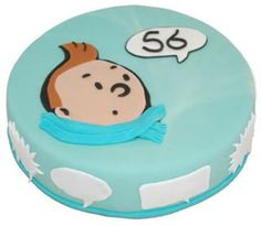 Tintin birthday cake • Tintin gateaux • Tintin cake Birthday Cake Gift, 8th Birthday, Birthday Parties, Cake Decorating, Birthdays, Sweets, Cake Ideas, Desserts, Kids