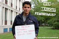 """""""Ich brauche #Feminismus, weil alle Menschen gleich sind!"""" (Meraj)"""