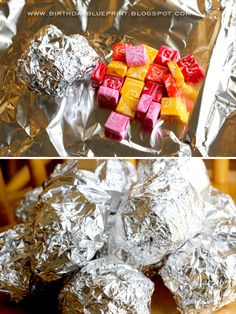 Moon Rocks - filled with starbursts!  Elementary storytime make & take
