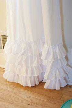 EMILEE Ruffled Shabby Chic Curtains /Shower by ShadesUpandCo