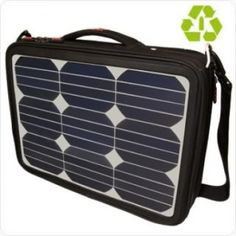 Solar charging laptop bag