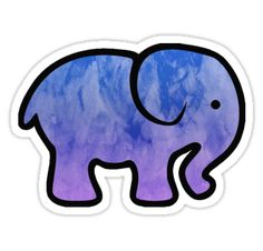 """Elephant"" Stickers by sophh-sophh 