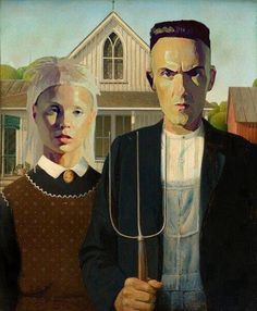 Reinventions Of The American Gothic Painting - Die Antwoord's version