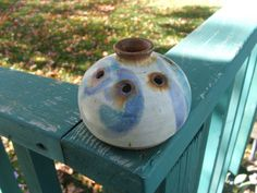 vintage pottery pansy pot vase by lookonmytreasures on Etsy