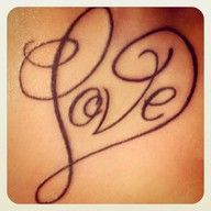 Love this tattoo..... but would have the names of each one of my girls on each side either in a ribbon or similar writing...