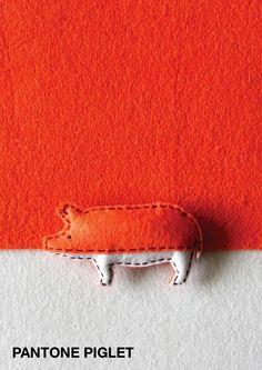 Kleine Filztiere in Pantone-Farben   KlonBlog