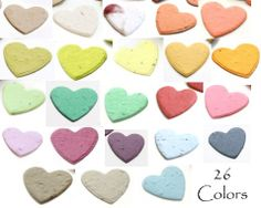 Heart Shaped Wildflower Plantable Paper Confetti (26 Colors Available)