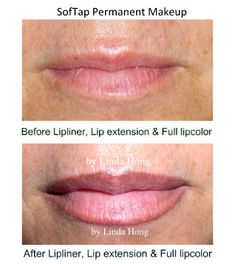 SofTap permanent makeup lipliner and full lip color. The lipliner is placed on t. - The World of Makeup Permanent Lipstick, Permanent Makeup Eyebrows, Natural Lip Colors, Natural Lips, Lip Liner Tattoo, Eyeliner Images, Permanent Makeup Training, Eyes Lips Face, Makeup Class