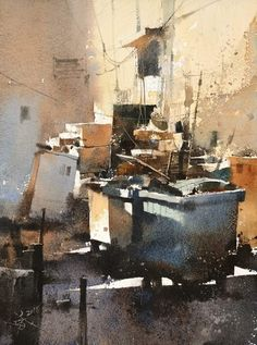 Chien Chung Wei 2018 Watercolor Sketchbook, Watercolor Artists, Watercolor Portraits, Watercolor And Ink, Watercolor Illustration, Watercolour Painting, Watercolors, Watercolor Architecture, Watercolor Landscape