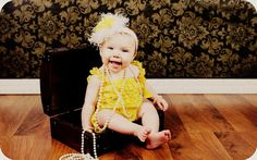 HEADBAND and petti lace   ROMPER with Shoulder by babyandmedesigns, $23.99