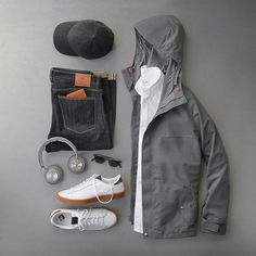 Gray all day. Jacket: @freemanseattle The Freeman in gray Shirt: @hamiltonshirts Oxford Headphones: @beoplay H7 Cenere Grey Hat: @varsityheadwear Dark Grey Cashmere Denim: @shockoe_atelier Slim Como Wallet: @tannergoods Glasses: @davidkind Shoes: @newbalance for @jcrew