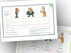 Lesespiele Grundschule zum Ausdrucken: Logicals 1. Klasse 2