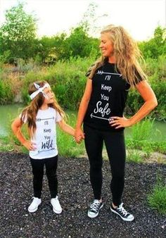 """MOMMY & ME- I'LL KEEP YOU SAFE"""" & """"I'LL KEEP YOU WILD"""" SHIRTS PRICE $24.99 OPTIONS: 2T, 3T, 4T, 5, 6, 7 WOMANS: S, M, L, XL To purchase: comment """"sold"""", size & email"""