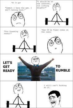 Sometimes when i'm at the gym