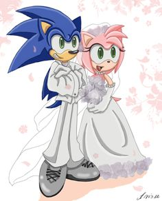 Wedding day Sonic and Amy are getting ready for their wedding at the Station Square Beach. Sonic was very nervous. Sonamy Love story page 1 part 1 (redone) Sonic And Amy, Amy Rose, Sonic The Hedgehog, Sonic Underground, Shadow And Amy, Sonic Franchise, Sonic Art, Star Wars Art, Cartoon Characters