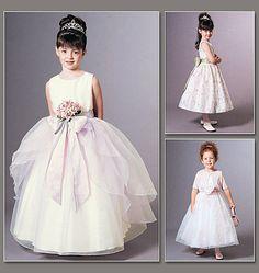 VOGUE GIRL BRIDESMAID FORMAL DRESS SEWING PATTERN