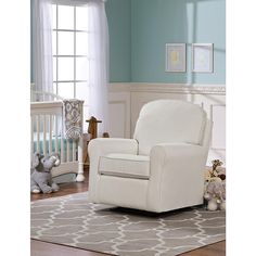 """Best Chairs Lily Gliding Ottoman - Ivory - Best Chairs - Babies """"R"""" Us Best Chairs Glider, Glider And Ottoman, Small Table And Chairs, White Armchair, Plastic Adirondack Chairs, Decorate Your Room, Chair Fabric, Chairs For Sale"""