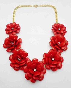 J Crew beaded rose necklace inspired jewelry - Brina Box