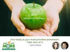 Your body is your most priceless possession. Take care of it. ~ Jack Lalane Very rightly said, as we see that people once they fall sick are ready to spend any amount to cure or manage the disease which happens to them but they don't spend a single moment to preserve the health which the body is supposed to be enjoying.  So, take care of your body, Stay Blessed & LiveLifeMore®#LiveLifeMore #DrSandeepJassal #DietitianPallaviJassal #HealthMotivation #HealthQuotes #LiveLifeMoreChandigarh