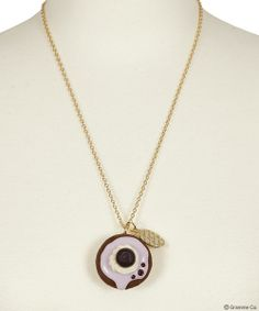 Blueberry CupCake Necklace
