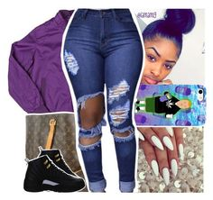 """.."" by lamamig ❤ liked on Polyvore featuring Members Only, Louis Vuitton and NIKE"