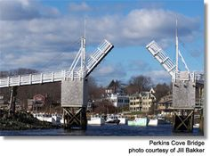 Perkins Cove Bridge in Ogunquit, ME