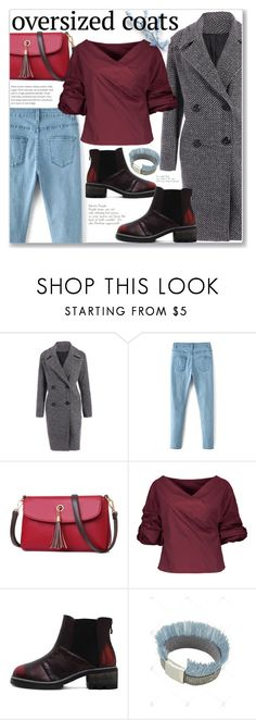"""Street Style"" by jecakns ❤ liked on Polyvore featuring StreetStyle, jeans, coat, oversizedcoats and zaful"