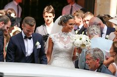 Coleen and Wayne Rooney don their finery for Tom Cleverley's wedding to TOWIE star Georgina Dorsett Sexy Wedding Dresses, Elegant Wedding Dress, Wedding Bridesmaid Dresses, Cheap Wedding Dress, Designer Wedding Dresses, Ball Dresses, Ball Gowns, Groom And Groomsmen Suits