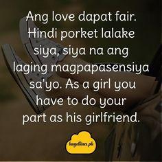 Hugot Lines Love Na Kailangan Ninyong Lahat Basahin Hugot Lines English, Hugot Lines Tagalog, Hugot Quotes, Tagalog Quotes, Line Love, Linnet, Girlfriends, Company Logo, Funny