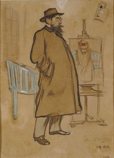 The Athenaeum - Self Portrait (Ramon Casas y Carbó - )
