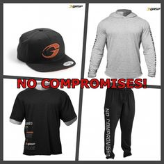 We LOVE GASP especially the No Compromise range, get the Pants, Hoodie, T-Shirt and Hat! https://www.globalgymwear.com/search?type=product&q=no+compromise