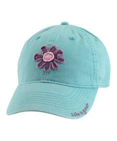 Life is Good® Teal Tattered Flower Chill Baseball Cap - Women 1db44c1398f6