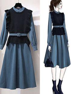 Korean Girl Fashion, Muslim Fashion, Cute Fashion, Hijab Fashion, Fashion Drawing Dresses, Fashion Illustration Dresses, Fashion Dresses, Mode Chic, Mode Style